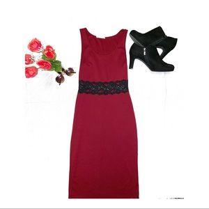 Red Wild Daisy Dress